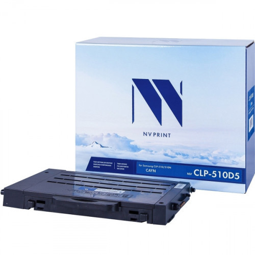 Картридж NV Print совместимый Samsung CLP-C510D5 Cyan  (5000k)