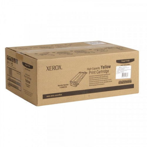 Картридж лазерный Xerox 113R00725 желтый оригинальный