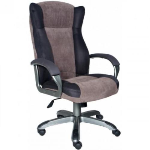Кресло руководителя CH-879DG/F-C пластик темно-серый, ткань кофейная