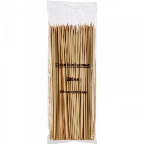 Набор шампуров из бамбука длиной 20 см по 100 штук в упаковке