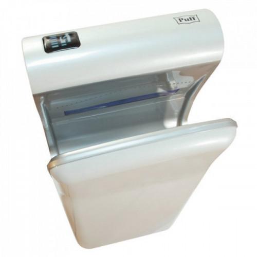 Сушилка для рук электрическая  PUFF 8870, 2000 Вт, время сушки 10 секунд, погружного типа, пластик, белая