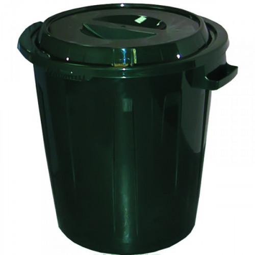 Бак 60 литров с крышкой из пластика цвет зеленый