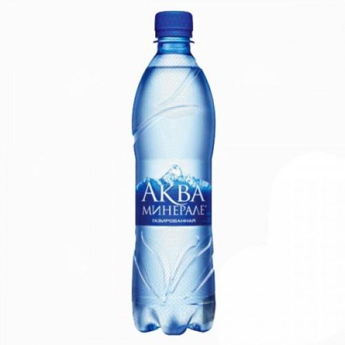 Вода минеральная Аква Минерале газированная 0.6 литра 12 штук в упаковке