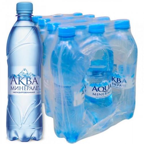 Вода минеральная Аква Минерале негазированная 0.6 литра 12 штук в упаковке