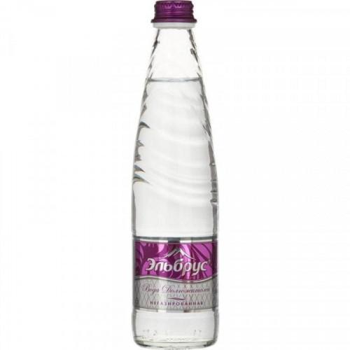 Вода питьевая Эльбрус негазированная 0.4 литра 12 штук в упаковке