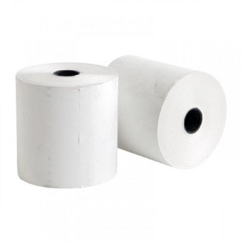 Ролики для касс и калькуляторов 80 мм диаметр 200 мм диаметр втулки 26 мм из термобумаги слой внутренний 8 штук в коробке