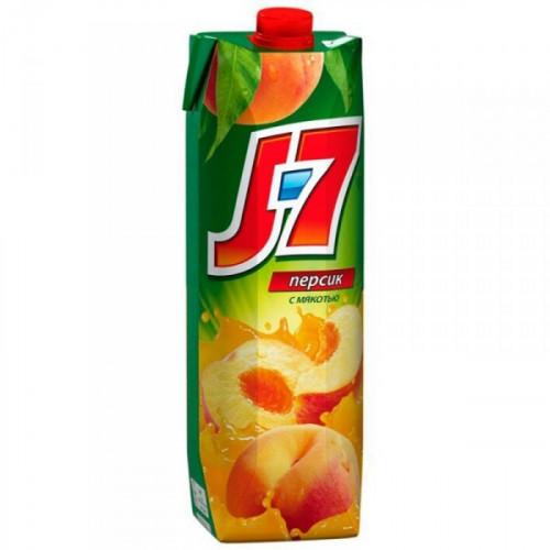 Нектар J7 персик с мякотью 0.97 литра