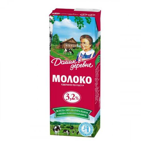 Молоко Домик в деревне ультрастерилизованное 3,2% 1,45 литра