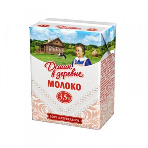 Молоко Домик в деревне ультрастерилизованное 3,5% 18 штук по 200 мл