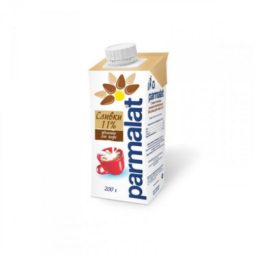 Сливки Parmalat ультрапастеризованные 11% 0.2 литра