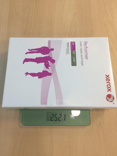 вес пачки xerox